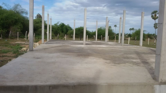 The completed foundations for the kindy